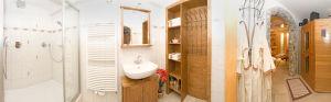 Badezimmer und Infrarotkabine