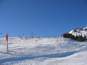 Rennstrecke im Skigebiet